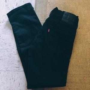 Levis black 511 slim fit stretch jeans